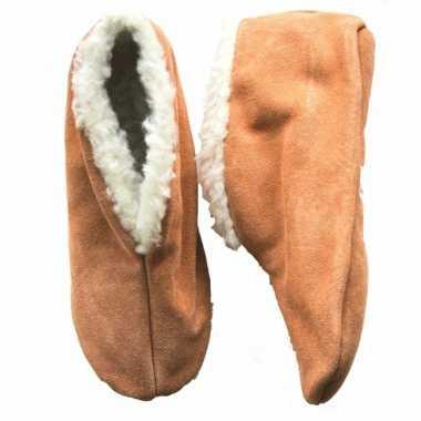 Beige spaanse pantoffels gevoerd