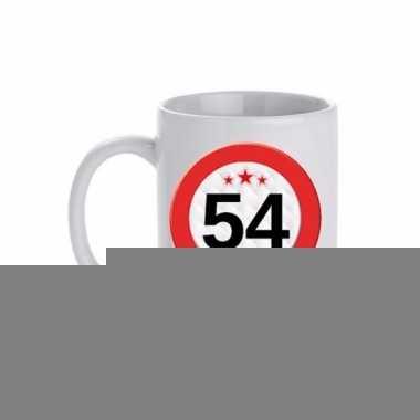 Beker / mok 54 jaar verkeersbord