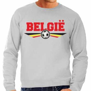 Belgie landen / voetbal sweater grijs heren
