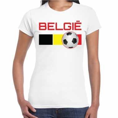 Belgie voetbal / landen t-shirt wit dames