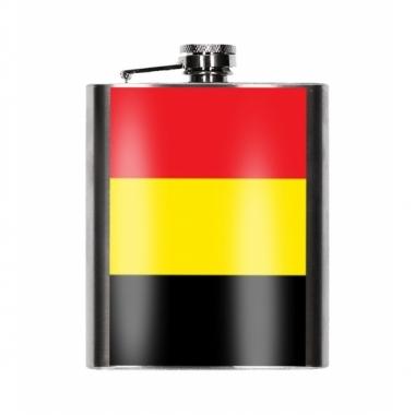 Belgische vlag heupfles 200 ml