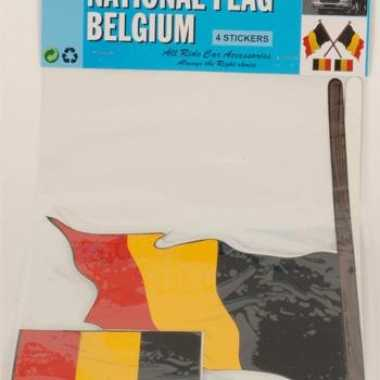 Belgische vlaggen stickers 4 stuks
