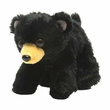 Beren speelgoed artikelen beer knuffelbeest zwart 18 cm
