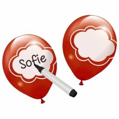 Beschrijfbare feestballon