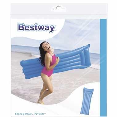 Bestway basic luchtbed blauw 183 cm