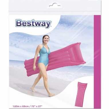 Bestway basic luchtbed roze 183 cm