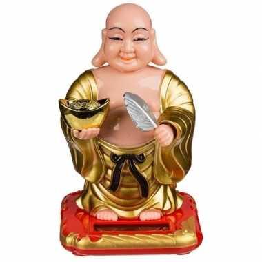 Bewegende dashboard boeddha solar figuur