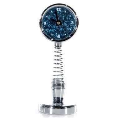 Bewegende spiraal klok blauw