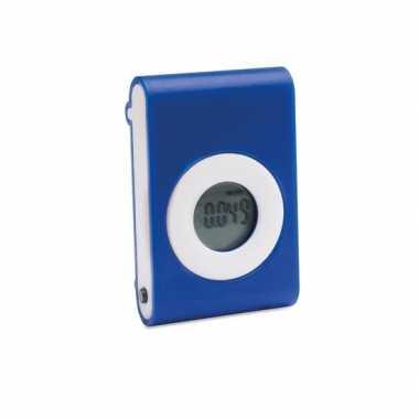 Bewegingsteller blauw met riem clip