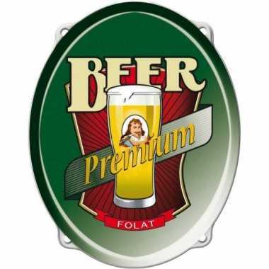 Bier feestartikelen bord 42 cm