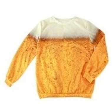 Bier opdruk trui voor volwassenen trend