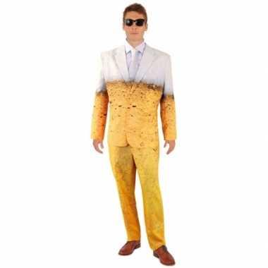 Bier thema print heren kostuum trend