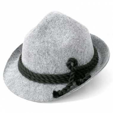 Bierfeest hoed grijs voor volwassenen