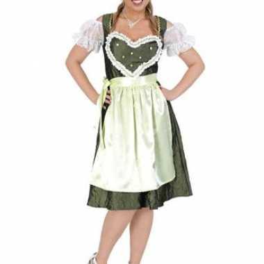 Bierfeest jurk groen met schort