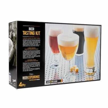 Bierglazen proef set voor speciaal bier 4 stuks