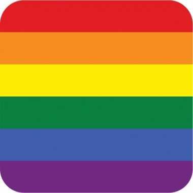 Bierviltjes in gay pride thema