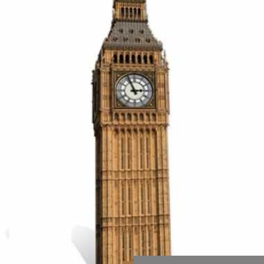 Big ben versierings bord