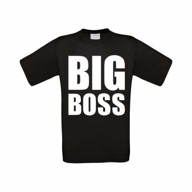 Big boss grote maten t-shirt zwart heren