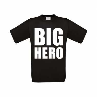 Big hero grote maten t-shirt zwart heren