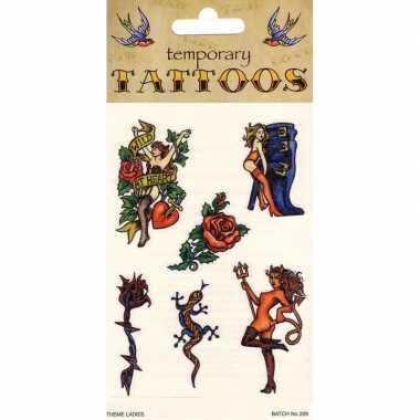 Biker tattoos 6 stuks