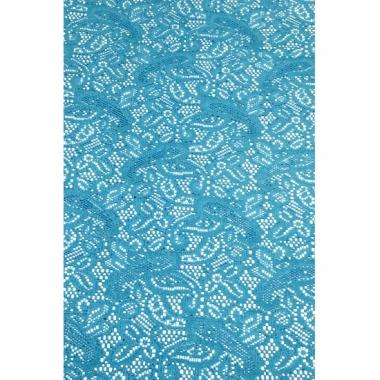 Binnen tafelloper aqua blauw anti-slip 150 x 40 cm
