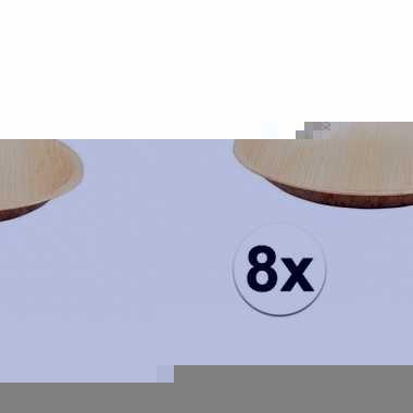 Biologische wegwerp borden 8 stuks 18 cm