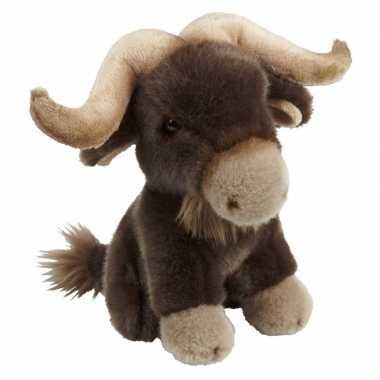 Bizons speelgoed artikelen bizon knuffelbeest bruin 18 cm