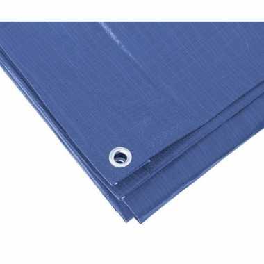 Blauw afdekzeil / dekzeil 3 x 4 meter