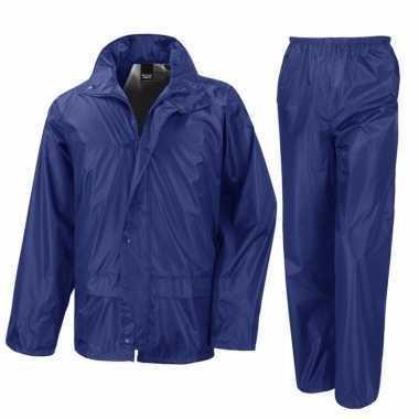 Blauw all weather regenpak voor volwassenen