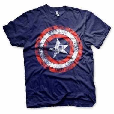 Blauw captain america t-shirt
