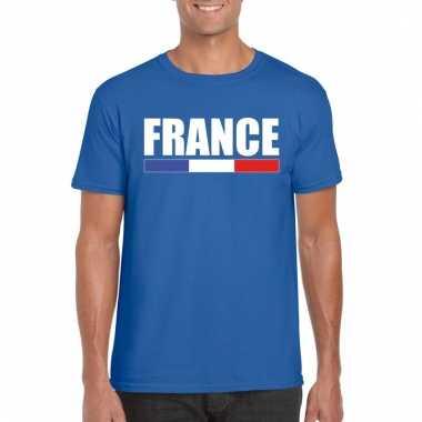 Blauw frankrijk supporter shirt heren trend