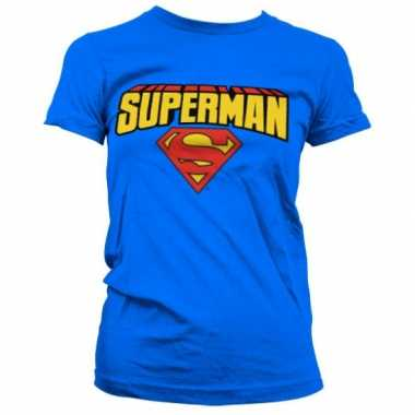 Blauw girly t-shirt superman