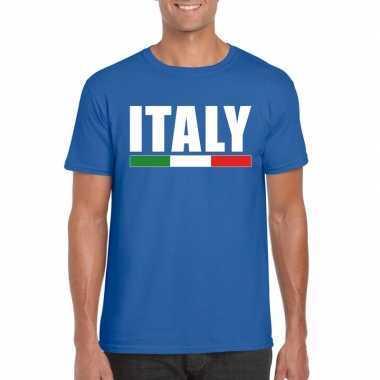 Blauw italie supporter shirt heren