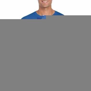 Blauw t-shirt met frankrijk vlag strikje heren