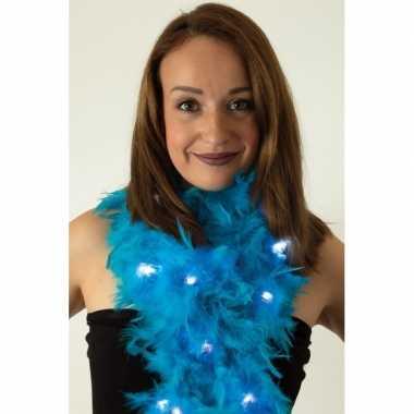 Boa turquoise met led verlichting 180 cm