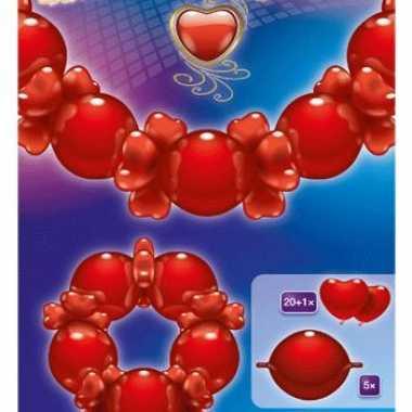 Boog guirlande valentijn 2 meter