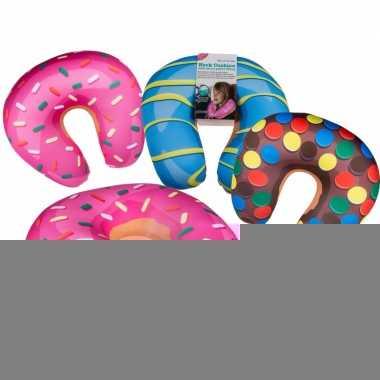 Bruine donut nekkussen