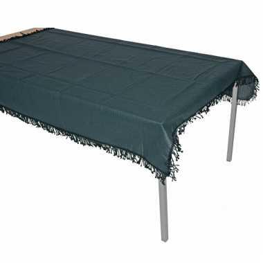 Buiten tafelkleed donkergroen 180 cm