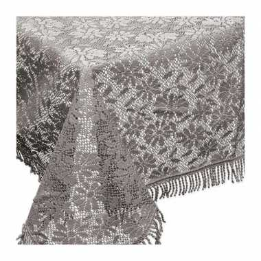 Buiten tafelkleed/tafellaken grijs 150 x 220 cm