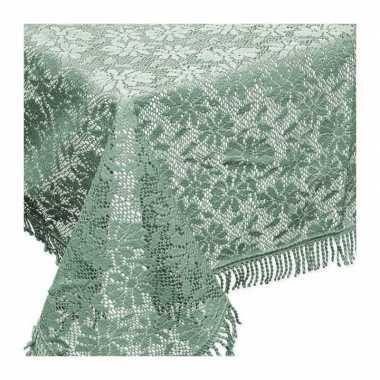 Buiten tafelkleed/tafellaken groen 150 x 220 cm