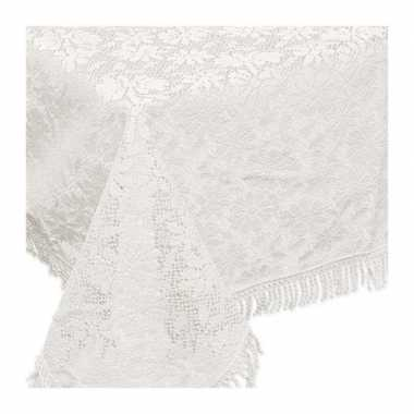 Buiten tafelkleed/tafellaken wit 140 x 180 cm