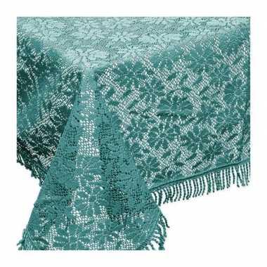 Buiten tafelkleed/tafellaken zeeblauw 150 x 220 cm