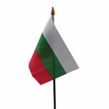Bulgarije vlaggetje met stokje