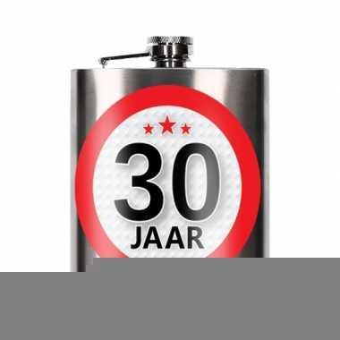 Cadeau 30 jaar drankflesje 200 ml