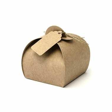 Cadeau doosjes bruin 10 stuks