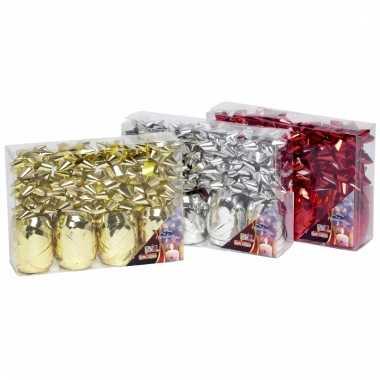Cadeau verpakking versiering goud set
