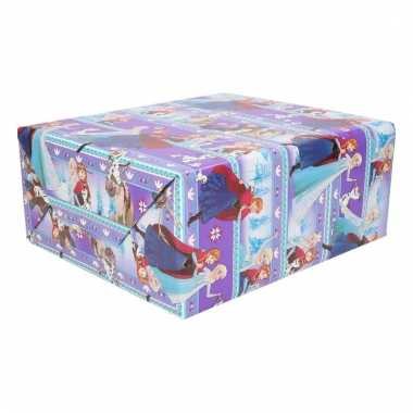 Cadeaupapier frozen paars/blauw