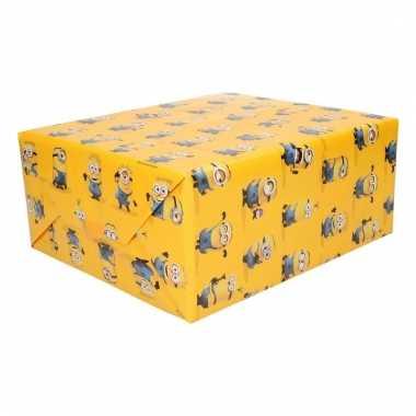 Cadeaupapier minions geel
