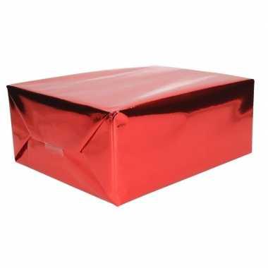 Cadeaupapier rood metallic