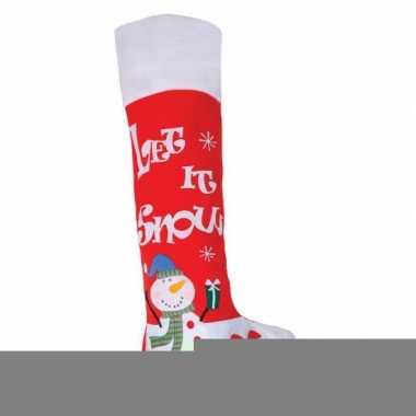 Cadeauzak kerstsok rood 100 cm